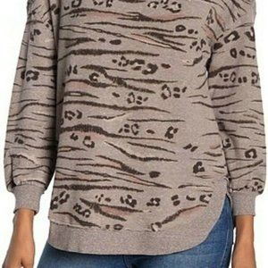 DEMOCRACY Small Cheetah Print Pullover Sweater